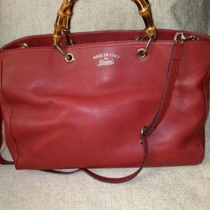Gucci Large Bamboo Shopper Tote Shoulder Bag